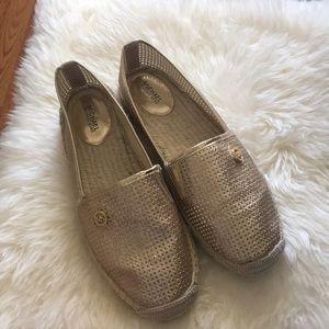 Michael Kors Espadrilles Gold Glitter Summer Shoes